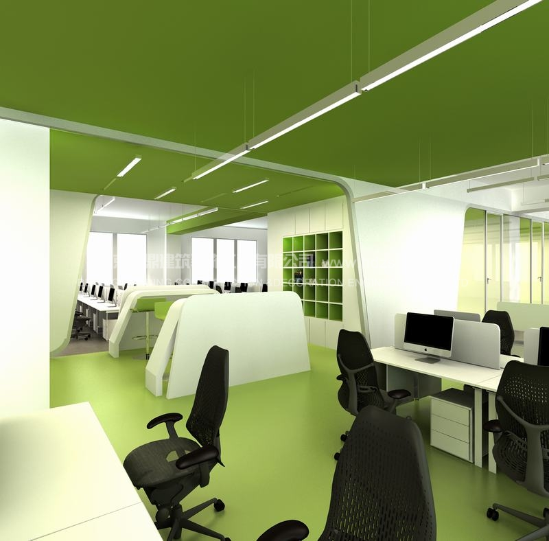 高大上的豌豆荚办公室设计效果图